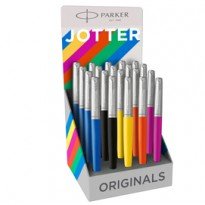 Expo 20 stilografiche M Jotter Orig. Plastic assor. (ne/ma/ar/gi/bl) Parker 2096914