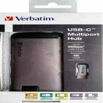 Verbatim USB-C ADAPTER USB 3.1 G1 / USB 3.0 X 3 / HDMI / SDHC / MICRO SDHC / R 49142