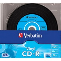 SCATOLA 10 CD-R DATALIFEPLUS DATA VINYL SLIM 1X-52X 700 MB AZO COLOUR 43426