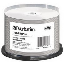 SCATOLA 50 CD-R DATALIFEPLUS SPINDLE 1X-52X 700MB STAMPABILE TERMICA BIANCA 43756
