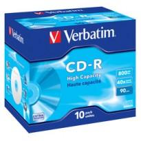 SCATOLA 10 CD-R DATALIFE JEWEL CASE 1X-40X 800MB SERIGRAFATO 43428