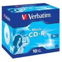 SCATOLA 10 CD-R MUSIC LIVE IT 80MIN. SERIGRAFATO COLORATO 43365
