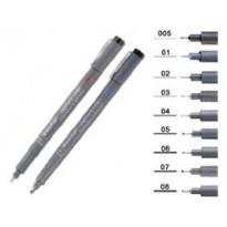 Pennarello Pigment Liner 308 nero 0,1mm Staedtler 308019 - Conf da 10 pz.