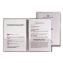 5 CARTELLINE C/TASCHE CAPRI 69/T2 21X29,7 PVC CRISTALLO 26069002