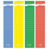 Busta 10 copridorso CDR-C carta adesiva verde 7x34,5cm SEI ROTA 58012705