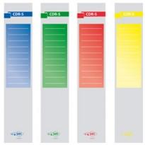 Busta 10 copridorso CDR-S carta adesiva verde 7x34,5cm SEI ROTA 58012605