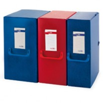 Scatola archivio Big 160 250x350mm blu c/maniglia Sei Rota 68001607
