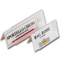 10 PORTANOME DA TAVOLO PRISMA 10X5CM 318050