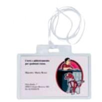100 portanome Pass 3EC 9,5x6cm c/cordoncino Sei Rota 318006