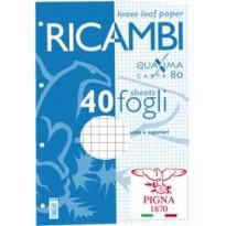 RICAMBI FORATI A5 4MM 80GR QUAXIMA 40FG 80GR PIGNA 00629044M