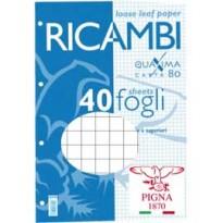 RICAMBI FORATI A5 5MM 80GR QUAXIMA 40FG 80GR PIGNA 00629045M