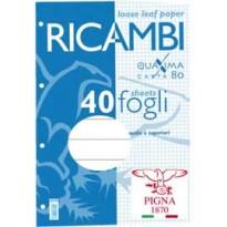 RICAMBI FORATI A4 1RIGO QUAXIMA 40FG 80GR PIGNA 00629031R
