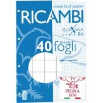 RICAMBI FORATI A4 10MM QUAXIMA 40FG 80GR PIGNA 006290310