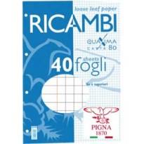 RICAMBI FORATI A4 5mm c/marg QUAXIMA 40FG 80GR PIGNA 00629030Q