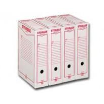 Scatola archivio STORAGE (1601) A4 85x315x223mm REXEL 00160100 - Conf da 32 pz.