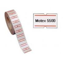 Rotolo 1000 etichette 21x12mm bianche permanenti rigate x TOWA GS-GM-MOTEX 5500 350GSPER - Conf da 20 pz.