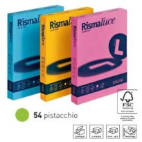 Carta RISMALUCE 200gr A4 125fg pistacchio 54 FAVINI A67M104