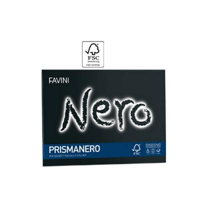 Album PRISMANERO 10fg 128gr 24x33cm monoruvido FAVINI A12A244 - Conf da 20 pz.