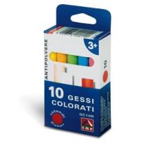 SCATOLA 10 GESSETTI TONDI COLORATI Primo 014GC10R - Conf da 10 pz.