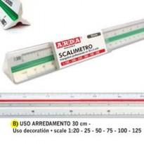 SCALIMETRO ISOTECK ARDA 30CM PER ARREDAMENTO (SCALE 120-25-50-75-100-125) 110