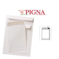 100 BUSTE A SACCO BIANCHE 250X353MM 80GR ADESIVA COMPETITOR PIGNA 0099069B4