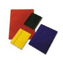 CARTELLINA C/ELASTICO CARTONE PLASTIFICATO 35X50CM AZZURRO 35EL CG0035LDXXXAN06