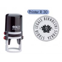 Timbro Printer R30 diametro 30mm personalizzabile autoinchiostrante COLOP PRINTER.R30