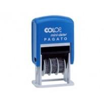 Timbro mini S160/L1 DATARIO + PAGATO 4mm autoinchiostrante COLOP S160/L1