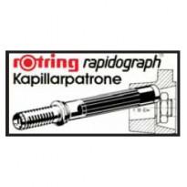 SCATOLA 3 CARTUCCE CAPILLARI NERO PER PENNE RAPIDOGRAPH S0194640
