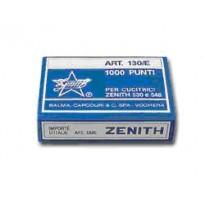 SCATOLA 1000 PUNTI ZENITH 130/E S100 (6/4) IN ACCIAIO NATURALE 0311301431 - Conf da 100 pz.