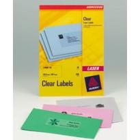 Poliestere adesivo L7563 trasparente 25fg A4 99,1x38,1mm (14et/fg) laser Avery L7563-25