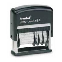 Timbro Printy Eco 4817 DATARIO+ POLINOMIO 3,8mm autoinchiostrante TRODAT 80363.