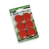 BLISTER 12 MAGNETI MR-30 ROSSO DIAM.30MM MR-30-R