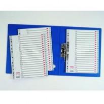 Separatore in PPL grigio alfabetico A-Z f.to A4 ESSELTE 100112