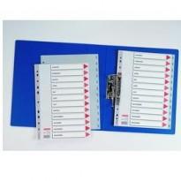 Separatore in PPL grigio mensile GEN-DIC f.to A4 ESSELTE 100114