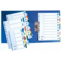 Separatore neutro in PPL 10 tasti colorati f.to A4 MAXI 24,5x29,7cm ESSELTE 15267