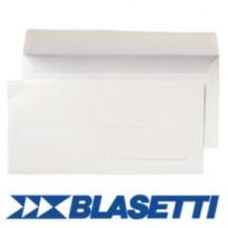 500 BUSTE BIANCHE 110X230MM 90GR S/FINESTRA C/STRIP BLASETTI 048