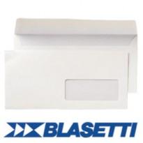 500 BUSTE BIANCHE 110X230MM 90GR C/FINESTRA SUPERSTRIP BLASETTI 148