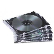 SCATOLA 25 CUSTODIE CD Jewel Case Slim - colore trasparente - FELLOWES 98316