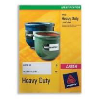 Poliestere adesivo L6011 argento 20fg A4 63,5x29,6mm (27et/fg) laser Avery L6011-20