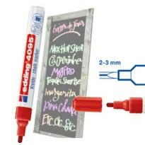 Marcatore EDDING 4095 punta conica gesso liquido rosso E-4095 002