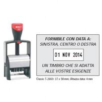 Timbro CLASSIC LINE DATARIO 2660 37x58mm 7righe autoinchiostrante COLOP 2660