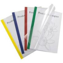 10 cartelline Poli 200 210x297mm PP trasparente dorso rosso Sei Rota 66230512