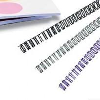 Scatola 100 dorsi spirale metallo IBIWIRE 10mm argento 21 anelli IB160837