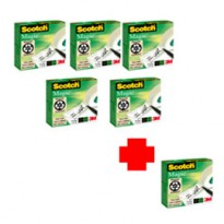 PROMO PACK 5+1 NASTRO ADESIVO Scotch 810 PERMANENTE 19MMX33MT 29125