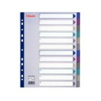 Separatore in PPL traslucido 12 tasti f.to A4 MAXI 24,5x29,7cm ESSELTE 20649