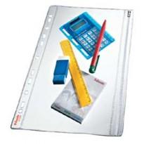 5 BUSTE FORATE CON ZIP L/L 19X30 IN PVC ESSELTE 411200