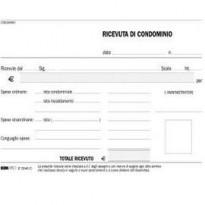 BLOCCO RICEVUTE CONDOMINIO 50/50 FOGLI AUTORIC. 9,9X17 E5540C E5540C