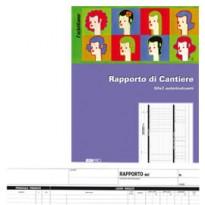 BLOCCO RAPPORTO DI CANTIERE 50/50 FOGLI AUTORIC. 21X30 E5859A E5859A