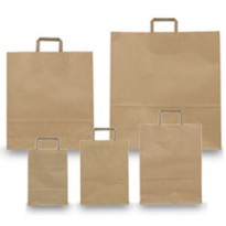 BLISTER 25 SHOPPERS 26X11X35CM AVANA NEUTRO PIATTINA 031304